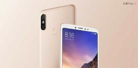 Xiaomi Mi Max 3 atrás y adelante