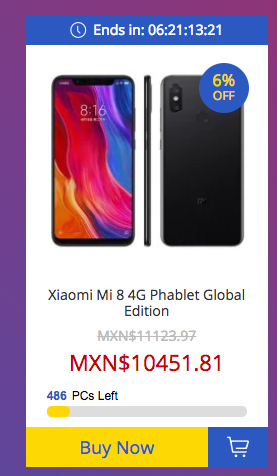 Xiaomi Mi 8 de 128 GB en oferta