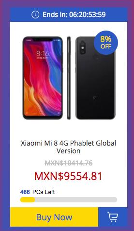Xiaomi Mi 8 de 64 GB en oferta