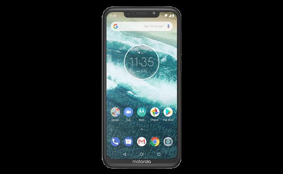 Motorola One Power Black Frontside