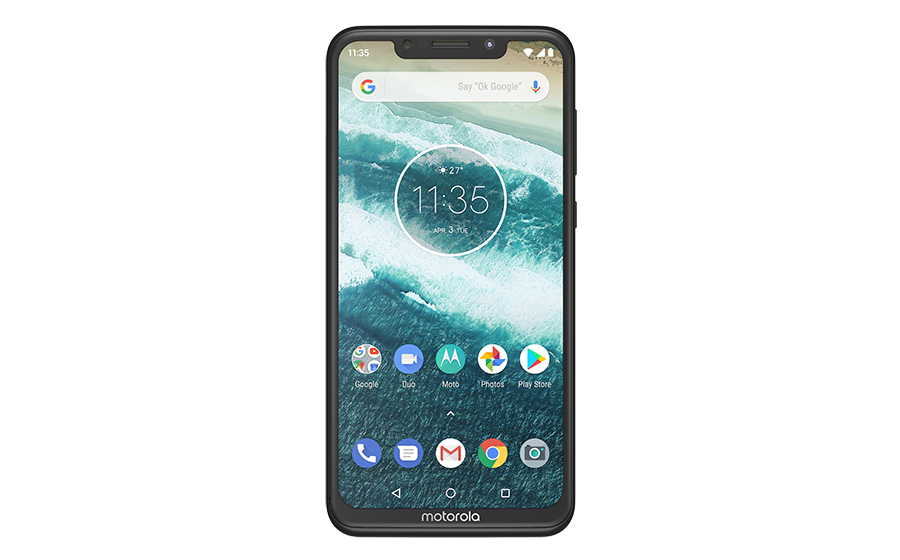 Motorola One Power Black Frontside