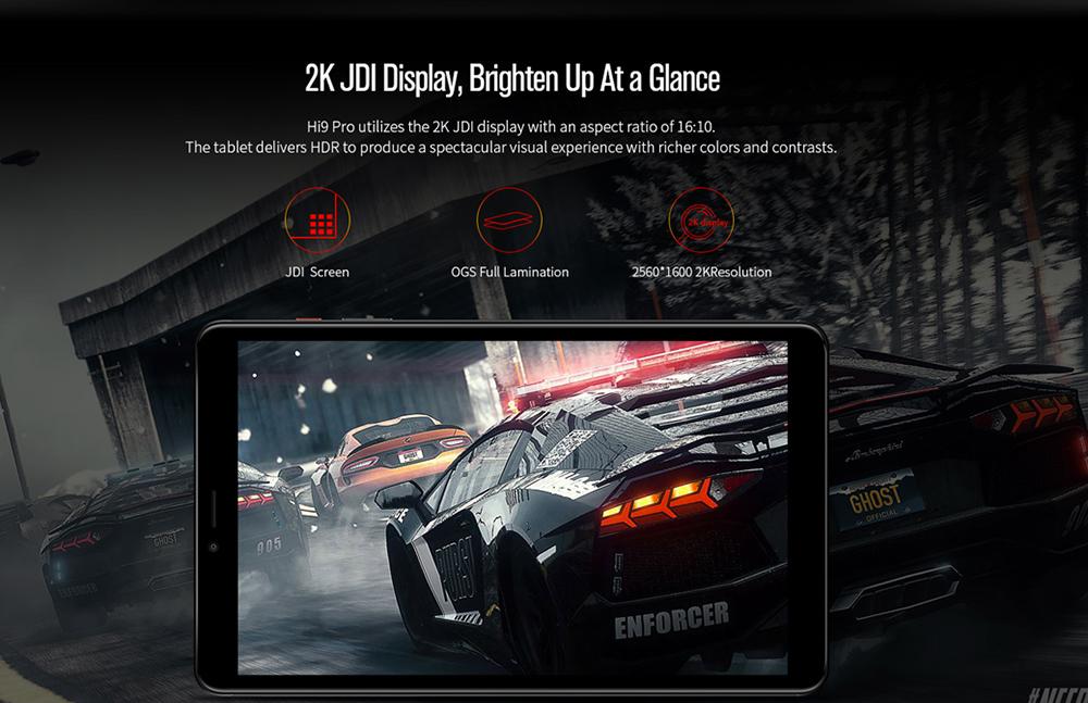 Chuwi Hi9 Pro Pantalla JDI de alta resolución