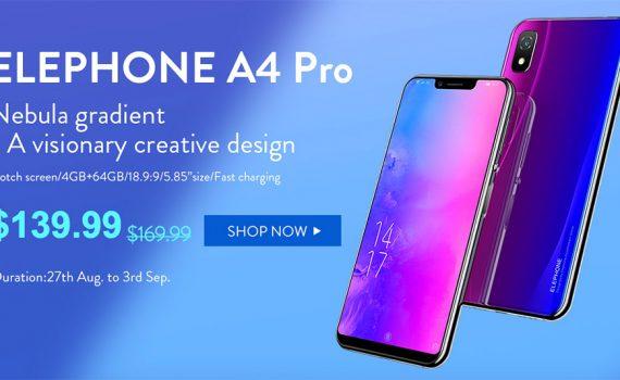 Elephone A4 Pro en precio especial - Android 8, 4GB en RAM, 64 GB en ROM, Mediatek Octa Core y más