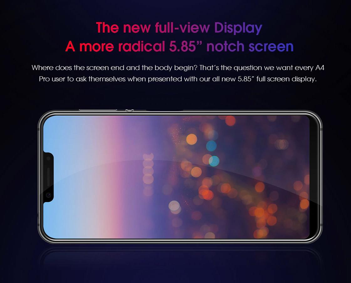 Elephone A4 Pro en precio especial - Pantalla notch de 5.8 pulgadas amplia