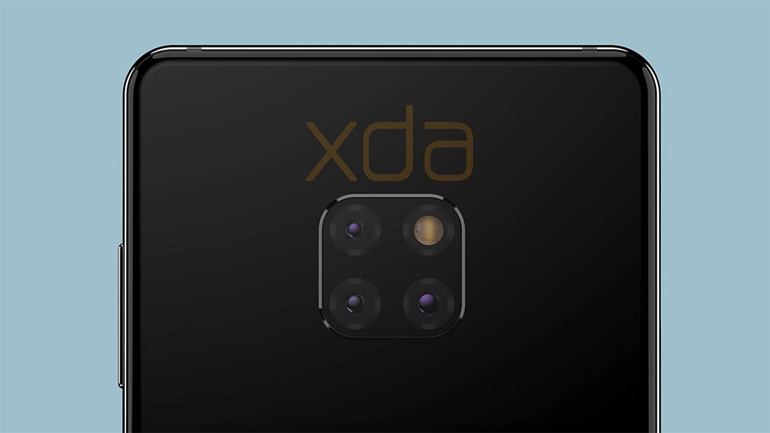 Huawei Mate 20 renders filtrados Triple cámara posterior y Flash LED