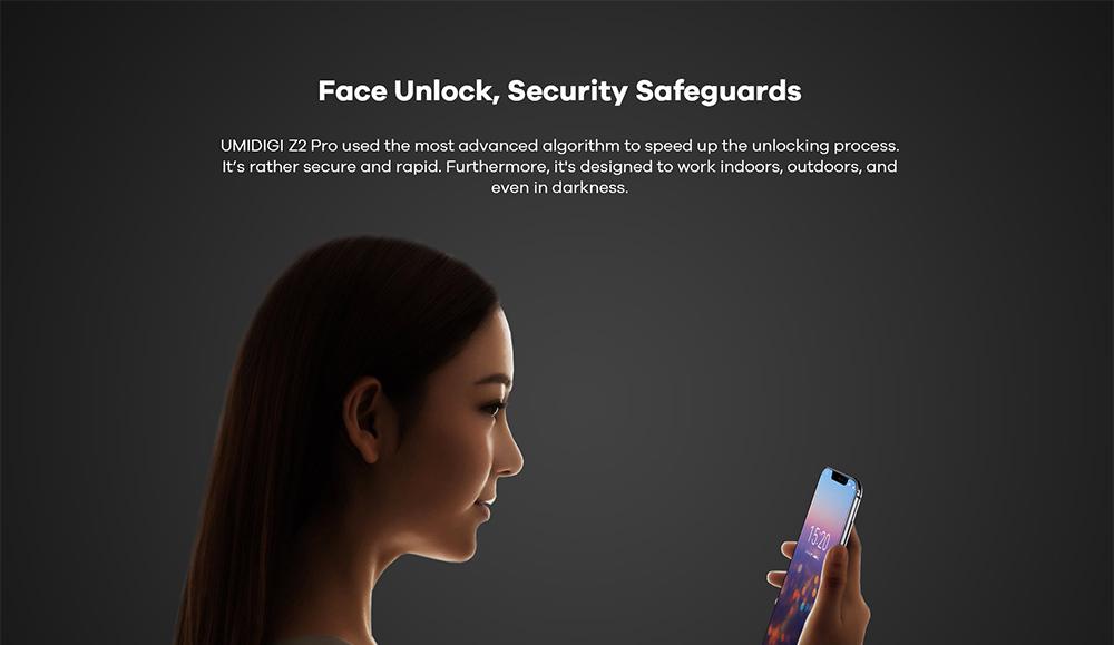 UMIDIGI Z2 Pro lanzamiento - Desbloqueo con el rostro