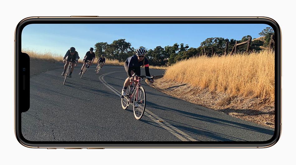 Apple iPhone Xs screen video