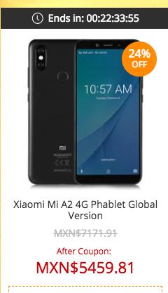 Xiaomi Mi A2 4G Phablet en Gearbest oferta