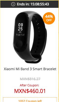 Xiaomi Mi Band 3 smartband en Gearbest oferta
