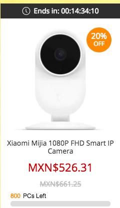 Xiaomi Mijia en Gearbest oferta - cámara IP WiFi 1080p