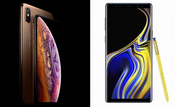 iPhone XS Max y Galaxy Note9
