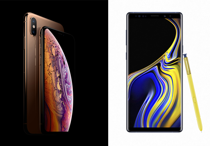 iPhone XS Max y Galaxy Note9