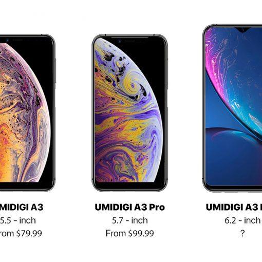 UMIDIGI A3 Series - A3, A3 Pro y A3 Max