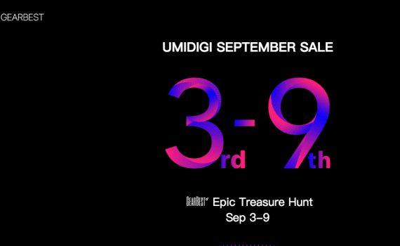 UMIDIGI Venta especial de septiembre en Gearbest