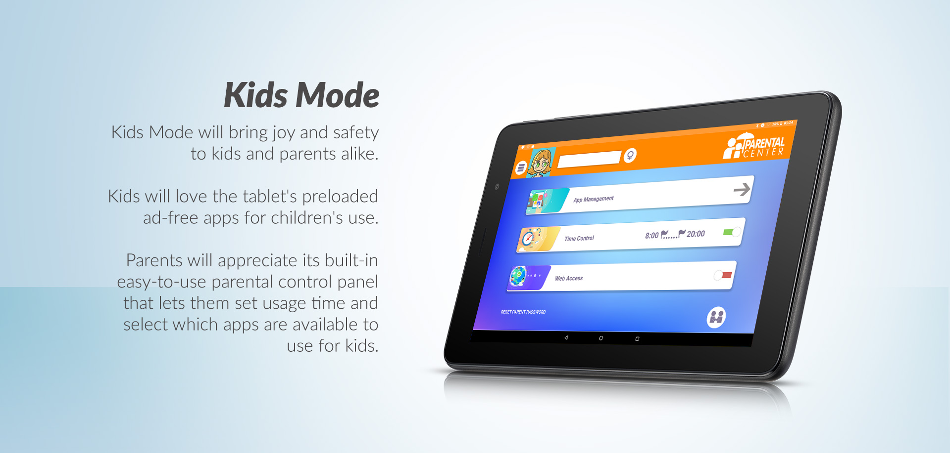 Alcatel 1T Kids Mode