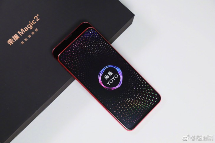 Honor Magic 2 pantalla completa - se desliza para mostrar cámara frontal