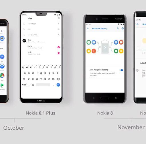 Nokia con Android 9 Pie en octubre y noviembre de 2018