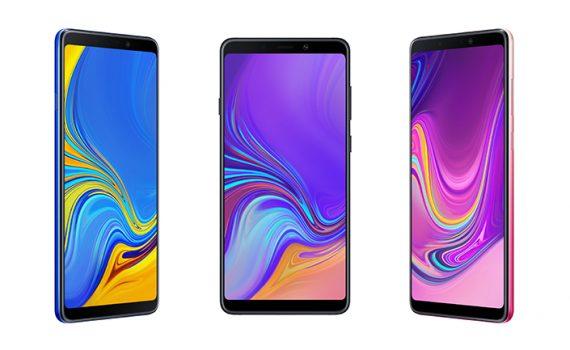 Samsung Galaxy A9 2018 con Cuatro cámaras traseras