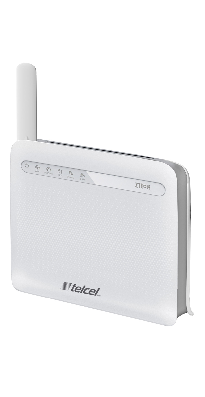 Router ZTE y Telcel lateral