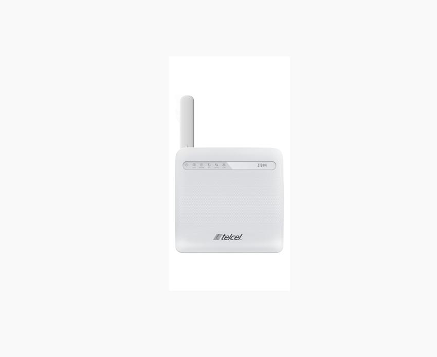Router ZTE y Telcel parte frontal