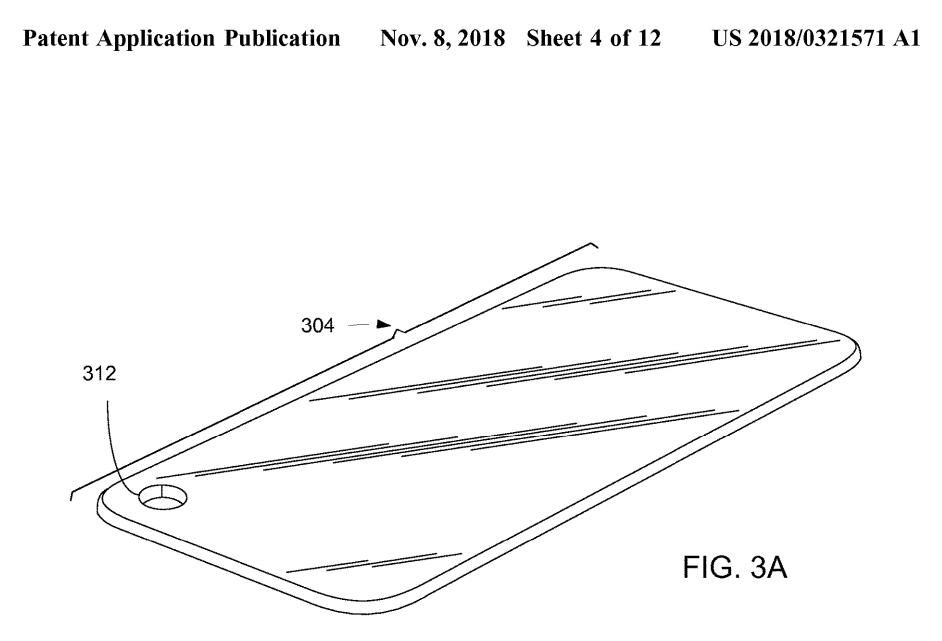Apple patente noviembre 2018, pantalla completa con hueco