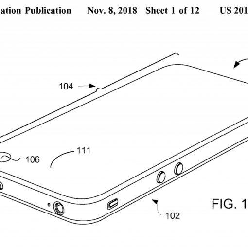 Apple patente noviembre 2018, iPhone con pantalla completa con hueco