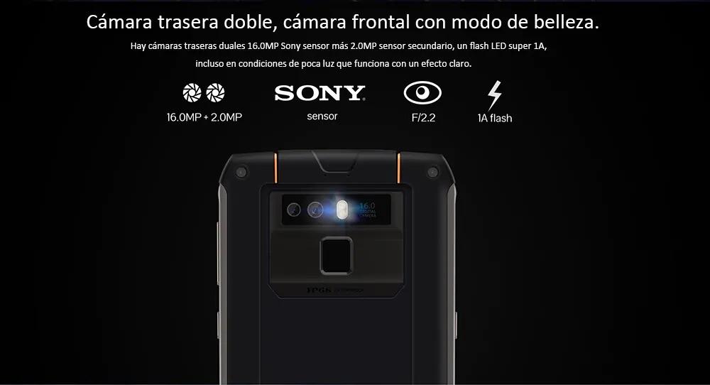 CUBOT King Kong 3 cámara Dual con sensor Sony