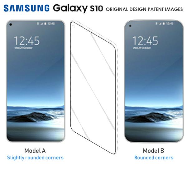 Samsung Galaxy S10 patentes con pantallas completas y hueco a la izquierda