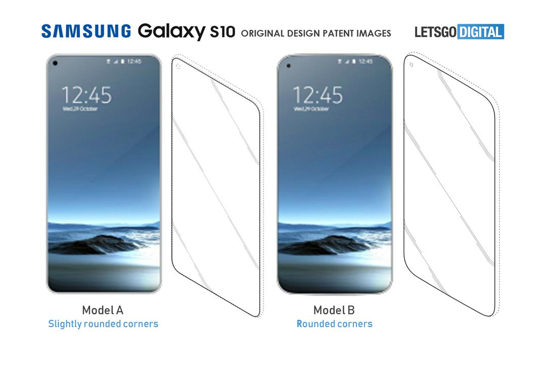 Samsung Galaxy S10 patentes
