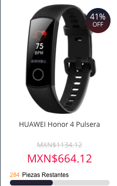 Honor 4 pulsera inteligente