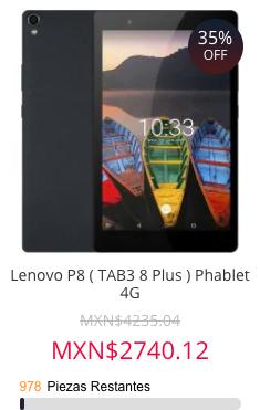 Gearbest Black Friday Lenovo P8