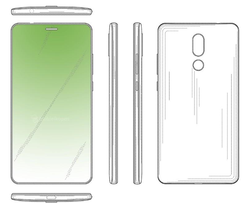 Huawei patente pantalla sin notch solo con hueco para altavoz y lector de huellas posterior