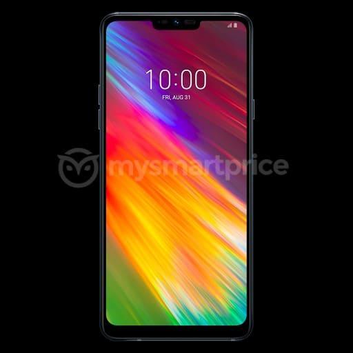 LG Q9 imagen filtrada, pantalla con notch y cámara selfie