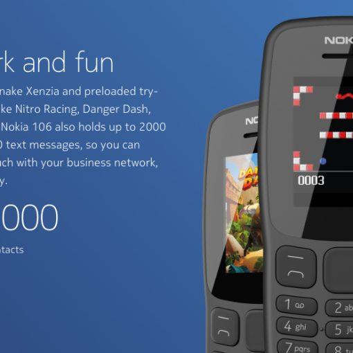 Nokia 106 2018 con más almacenamiento y juegos
