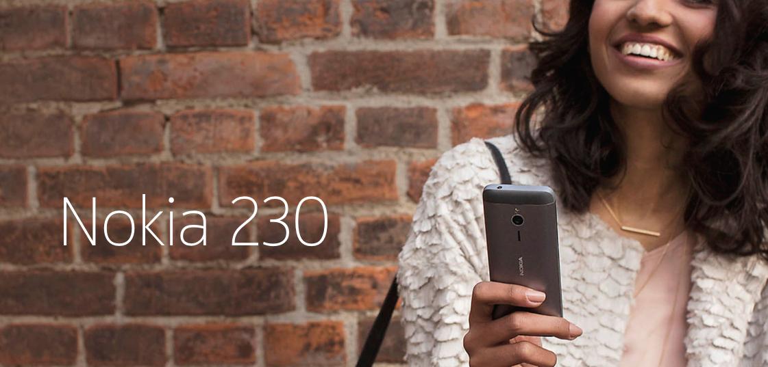 Nokia 230 con cámara y flash