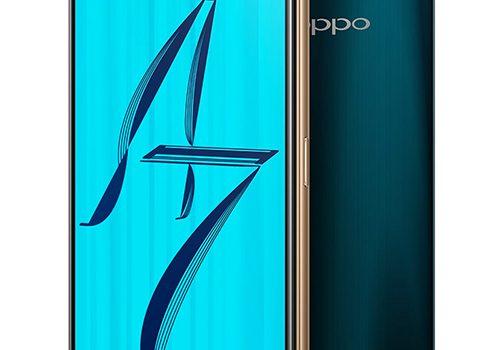 Oppo A7 con pantalla notch y lector de huellas