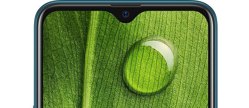 Oppo A7 pantalla notch gota de agua HD