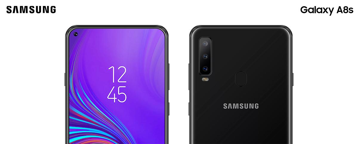 Detalle del Samsung Galaxy A8s concepto no oficial basado en especificaciones filtradas