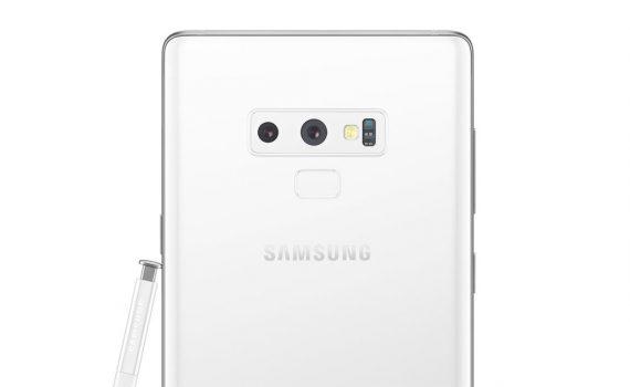 Samsung Galaxy Note9 color blanco render filtrado