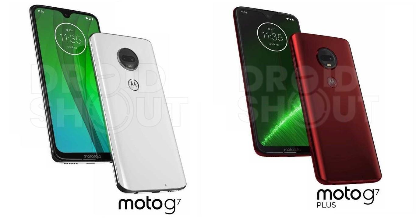Moto G7 y G7 Plus ambos lados