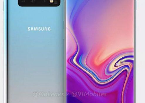Samsung Galaxy S10 + ambos lados