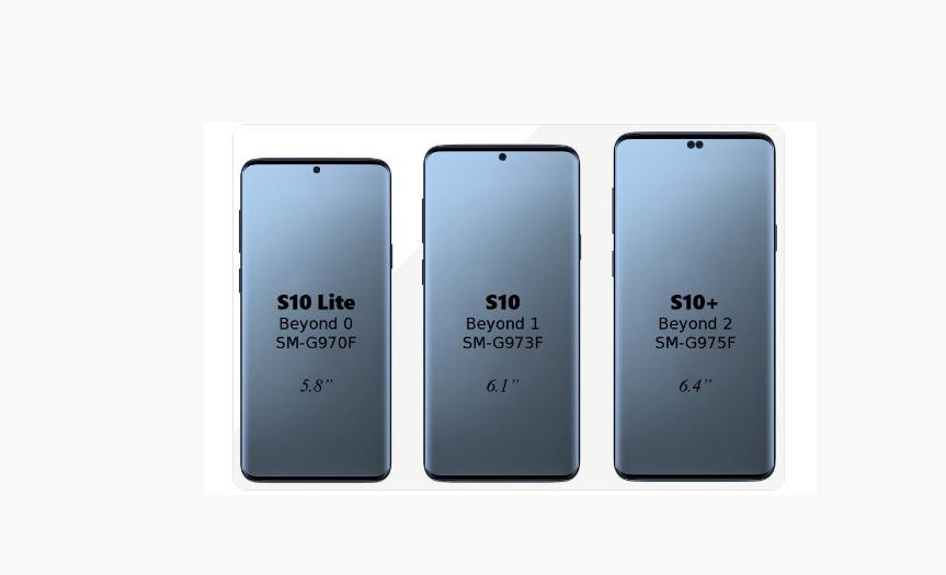 Samsung Galaxy S10 tamaños pantallas