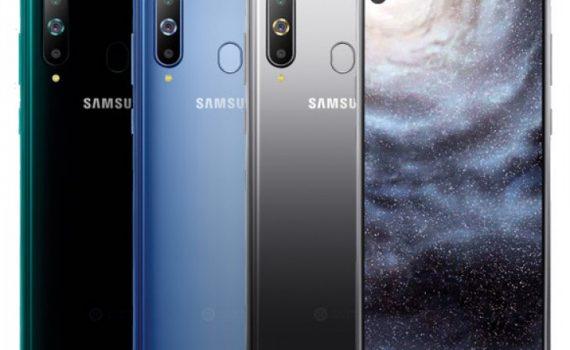 Samsung Galaxy A8s ambas caras