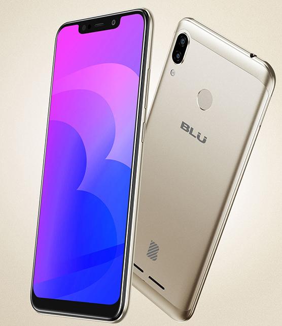 Blu Vivo XL4 con pantalla notch y cámara Dual en color oro