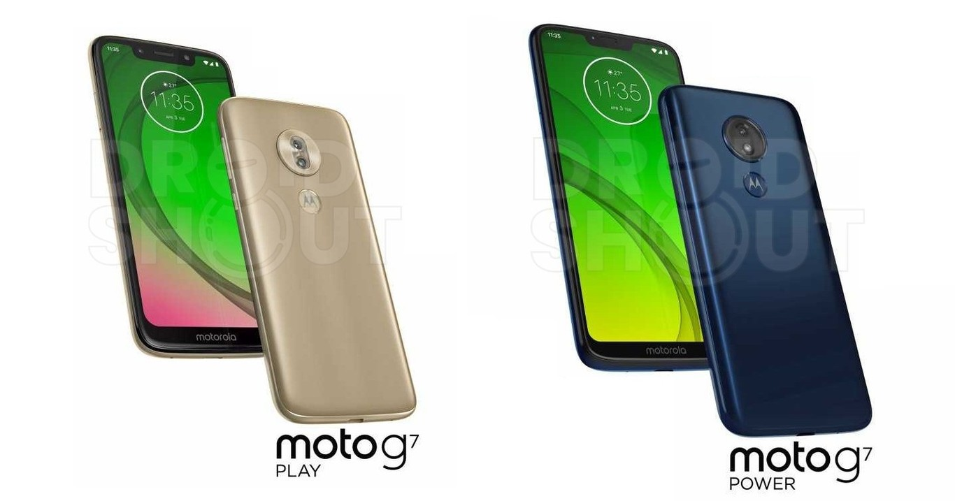 Moto G7 Play y Power ambos lados