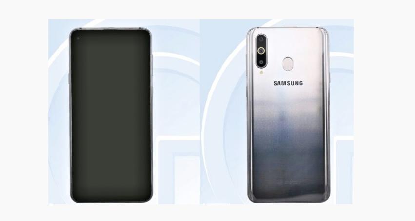 Samsung Galaxy A8s ambos lados