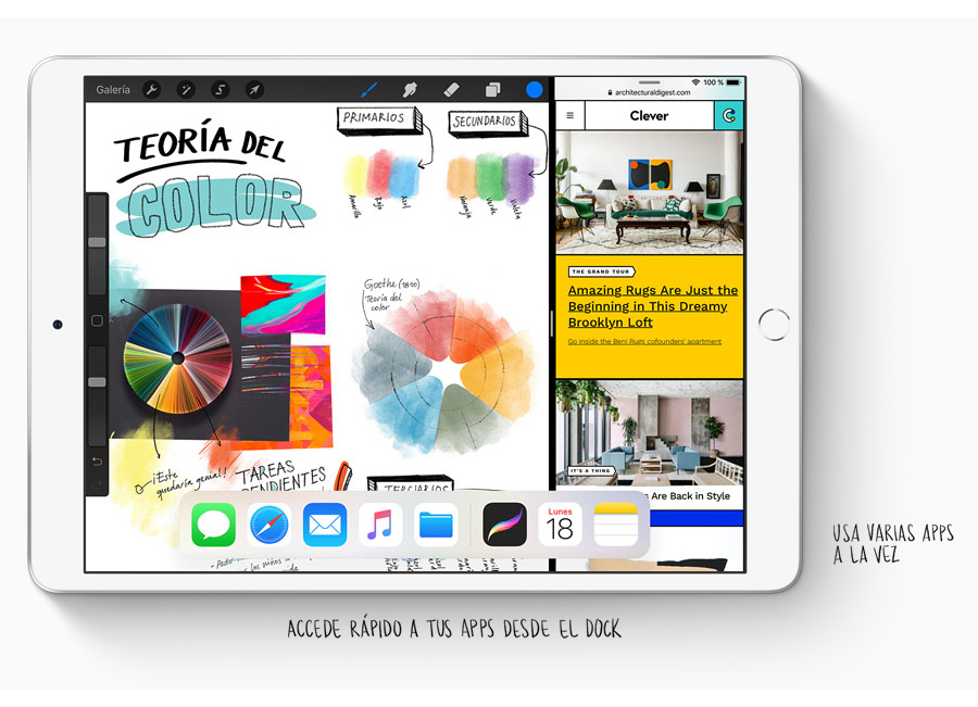 Apple iPad Air 2019 varias apps