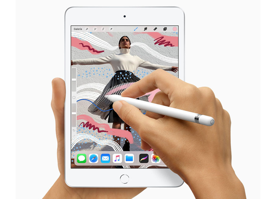 Apple iPad mini 2019 con Apple Pencil editando fotos
