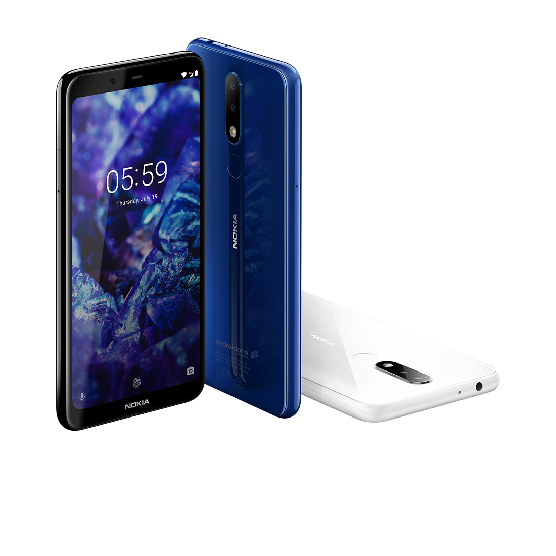Nokia 5.1 Plus color azul y blanco
