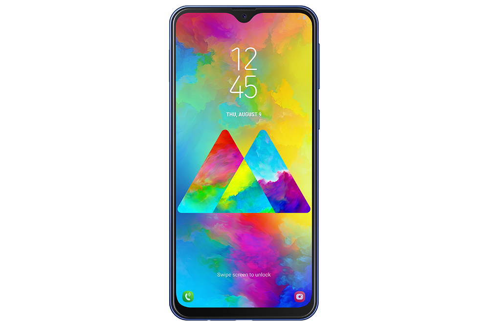 Samsung Galaxy M20 color negro frente pantalla